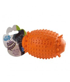 Petbrands Rubba Squeak Rugby Ball
