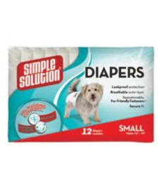 Bramton Simple Solution Disposable Diapers,S -12 pads