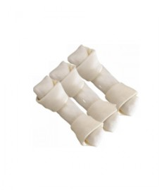 Dog Bone Knotted Plain  (4-inch x 3 Pieces)