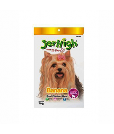 JerHigh Fruity Banana Stick Dog Treat, 70 g (Pack of 6)