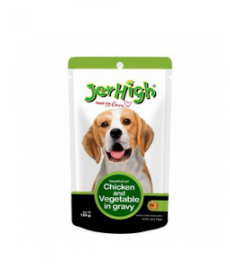 Jerhigh Chicken and Vegetable in Gravy 120 g (Pack of Four)
