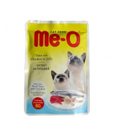 Me-O Tuna Chicken In Jelly Cat Food-80 Gm
