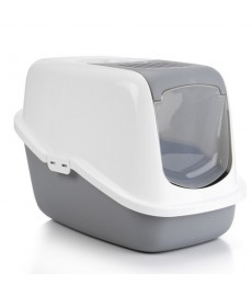 Savic Nestor Cat Toilet Home - Cold Grey