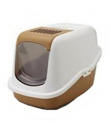 Savic Nestor Cat Toilet Home  - Retro Brown