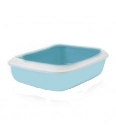 Savic  Iriz Cat Litter Tray + Rim - Retro Blue