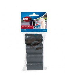 Trixie Dog Dirt Pick-Up Bags Refill 80 Bags-Black