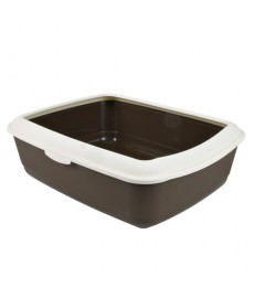 Trixie Classic  Cat Litter Tray with Rim-Light Drak Grey