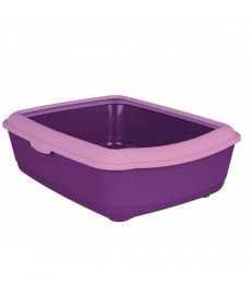 Trixie Classic  Cat Litter Tray with Rim-Purple Lilac