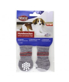 Trixie Dog Socks Non-Slip-Grey-Large-Xtra Large