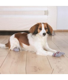 Trixie Dog Socks Non-Slip-Grey-Small-Medium