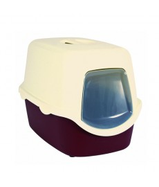 Trixie Vico  Cat Litter Tray with Dome Bordeaux Cream