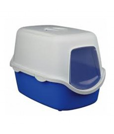 Trixie Vico  Cat Litter Tray with Dome Blue White