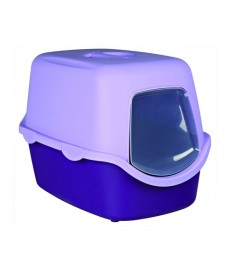 Trixie Vico  Cat Litter Tray with Dome Purple Lilac