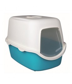 Trixie Vico  Cat Litter Tray with Dome Turquoise White