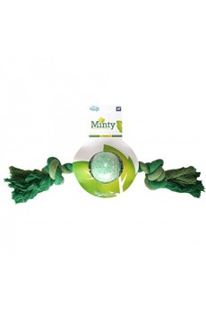 Petbrands Minty Rubber Ball and Bone  - Medium