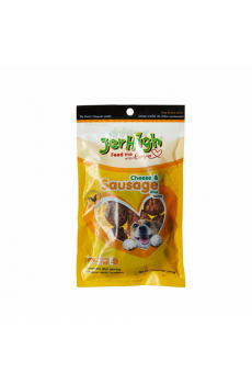 JerHigh Cheese and Sausage Dog Treats, 100 g