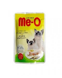 Me-o Chicken and Rice Cats Food in Jelly-80 Gm