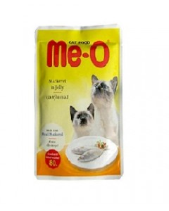 Me-o Mackerel in Jelly Cats Food-80 Gm