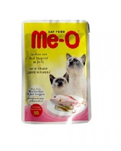 Me-o Red Snapper in Jelly Cats Food-80 Gm
