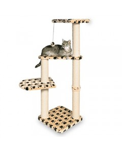 Trixie Atlea Scratching post beige with paw prints