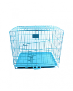 Blue Fold Cage (Length 12 Inches) Small Breed