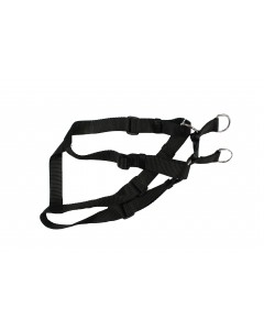 Woofi Dog Nylon Harness Set - Large - XL - Black