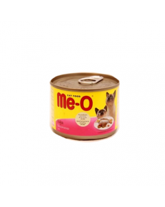Me-O Seafood made fron Rasl Fish Cat Food(185gms) (PACK OF 2)