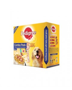 Pedigree Mix Feeding Combo Adult Dog Food Chicken and Veg, 480 g