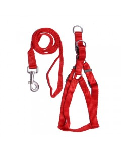 Woofi Dog With Harness Set - Medium - Red