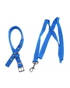 Woofi Puppy Plain Leash Set - XS - Small - Blue