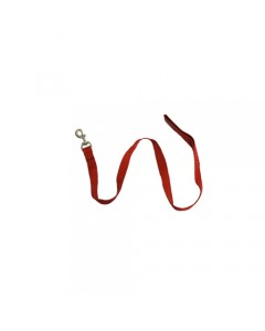 Woofi Dog Nylon  Plain Leash   - Medium - Red